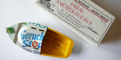 Pop-pop recyclé hublot boîte